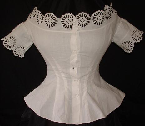 1860's corset cover  aimee's victorian armoire