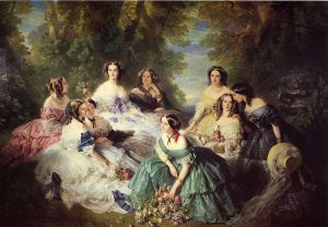 800px-Winterhalter_Franz_Xavier_The_Empress_Eugenie_Surrounded_by_her_Ladies_in_Waiting