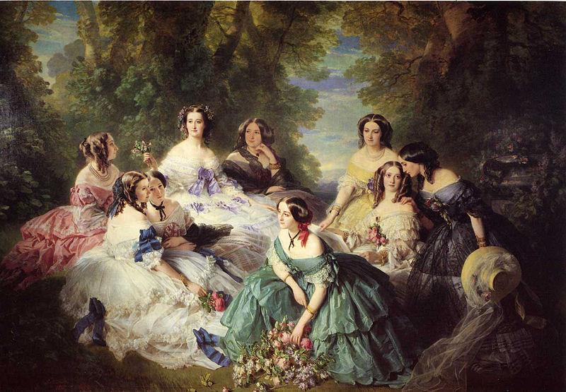 800px-Winterhalter_Franz_Xavier_The_Empress_Eugenie_Surrounded_by_her_Ladies_in_Waiting
