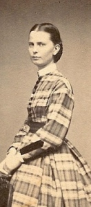 1860s Providence RI Woman in Plaid