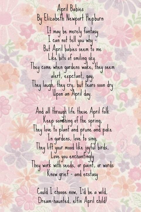 april babies poem
