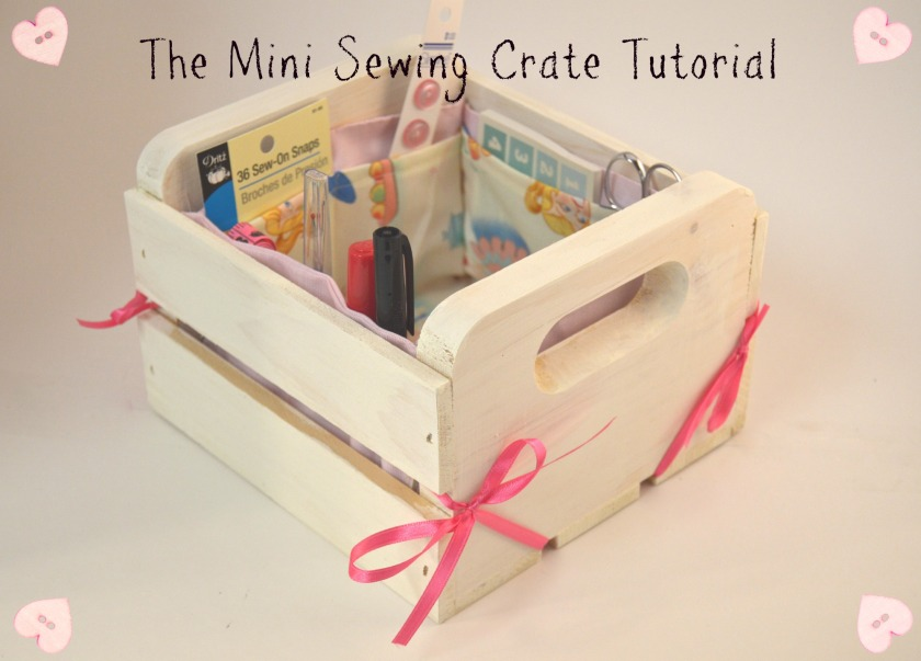 March sewing crate
