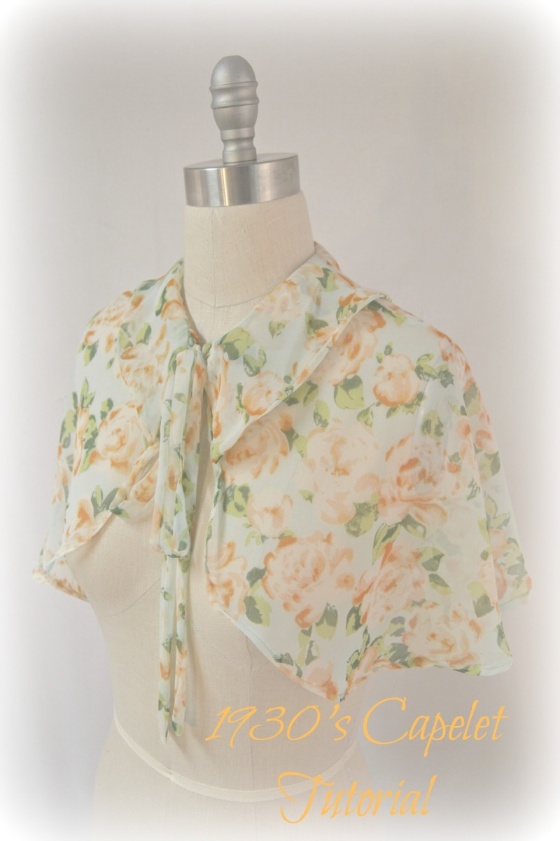 Accessories: 1930's Sheer Capelet Tutorial