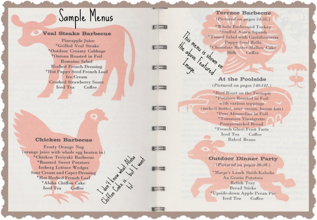 Patio Supper Menus