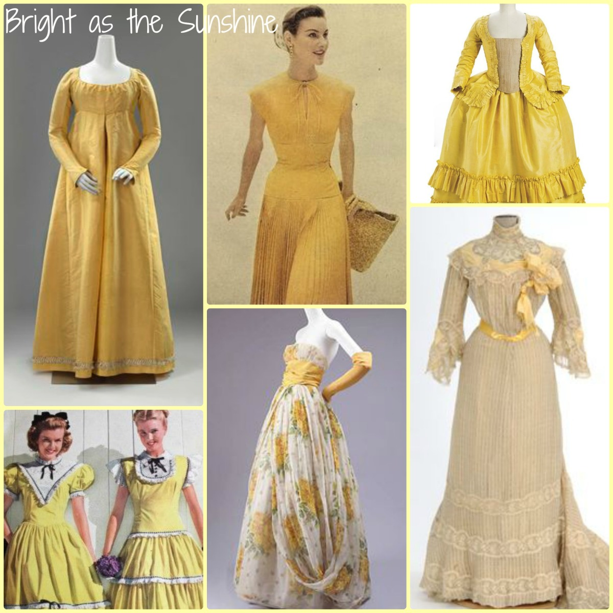 Inspiration Board: Yellow Gowns