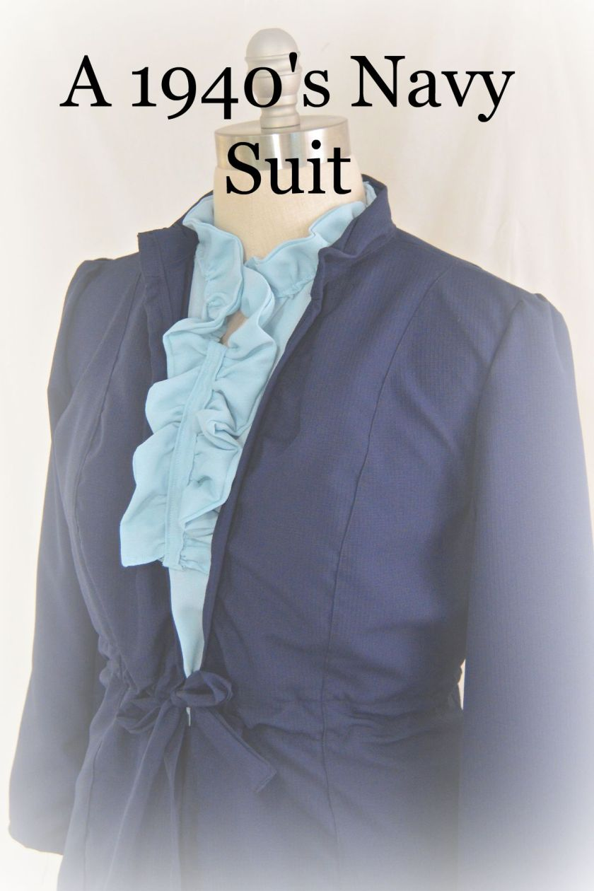 1940's Navy Suit Cover