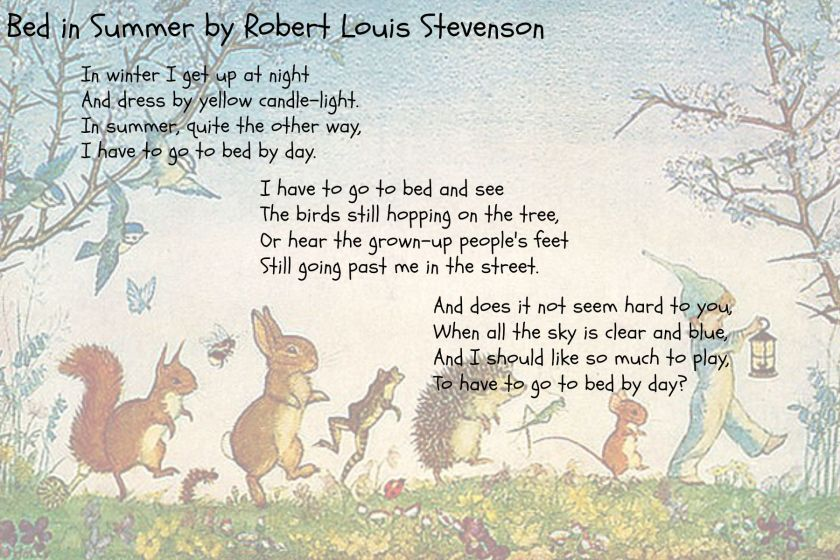 Bed in Summer Poem