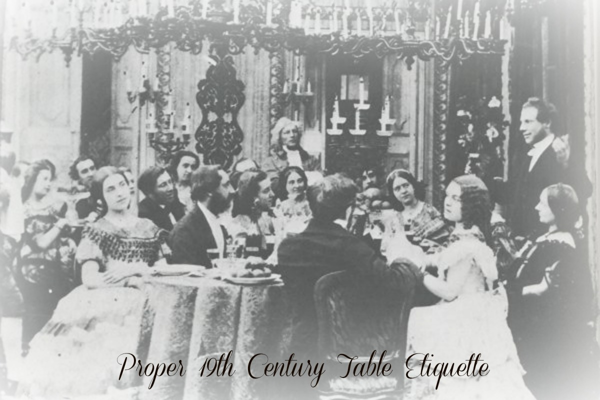 Proper 19th Century Table Etiquette