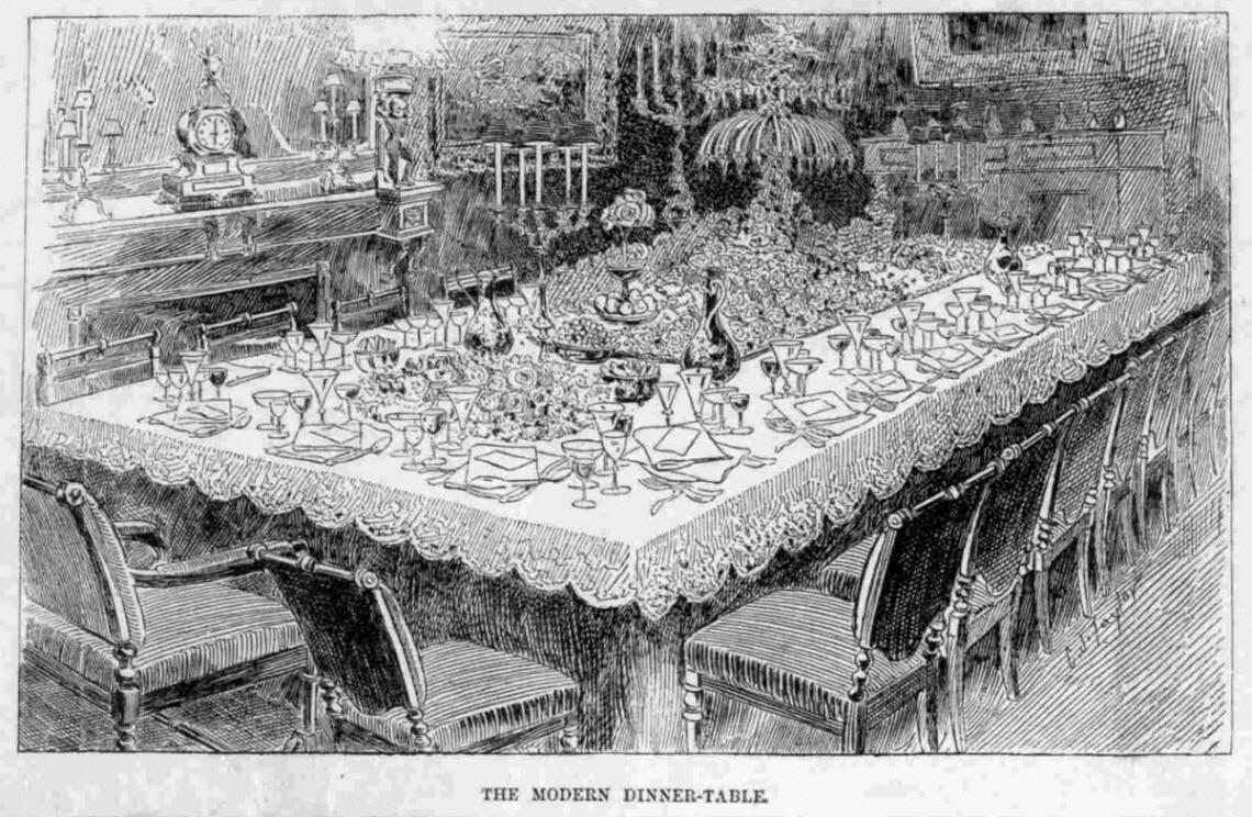 Proper 19th century table etiquette aimee 39 s victorian for Edwardian table setting