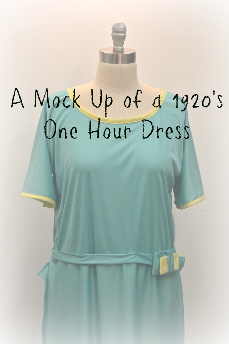 A Mock Up of a 1920's One Hour Dress