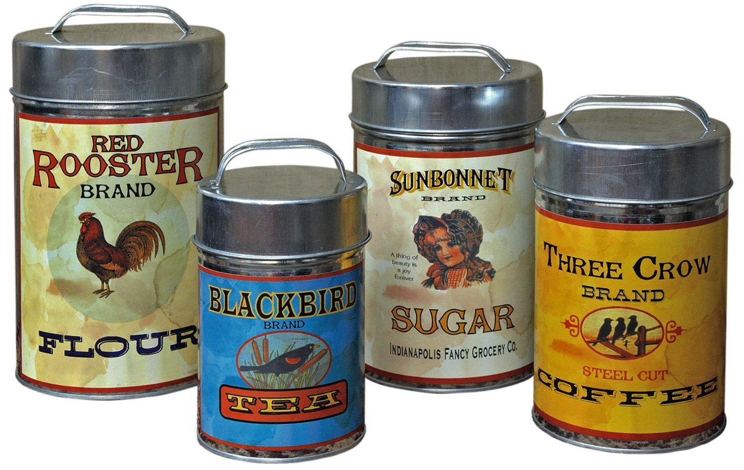 finding kitchen canisters aimee s victorian armoire antique canisters from amazon