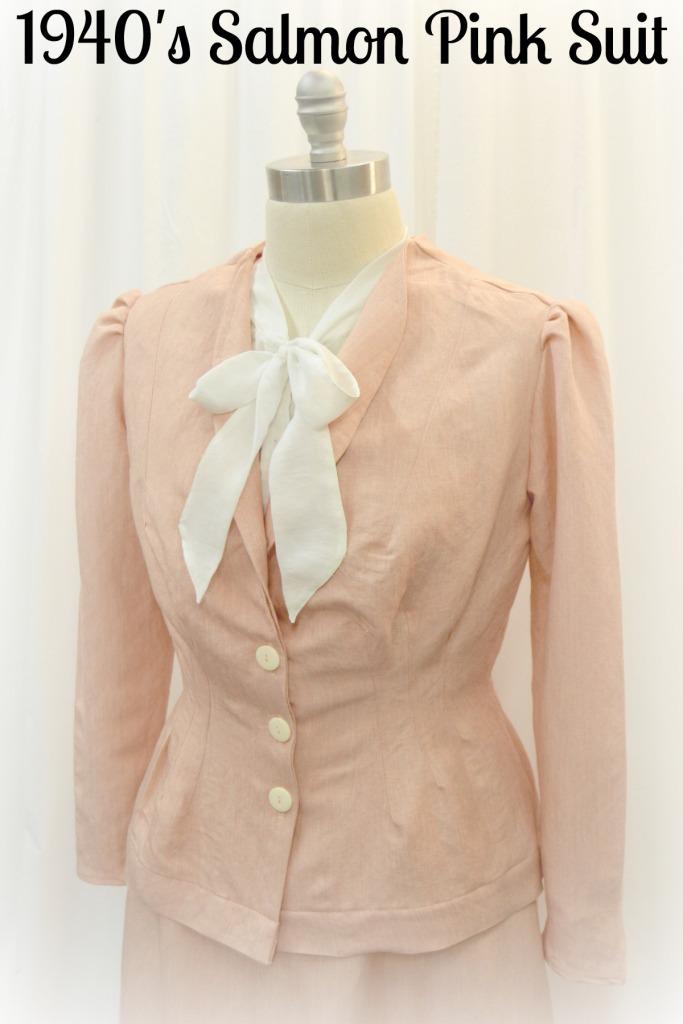1940's salmon suit