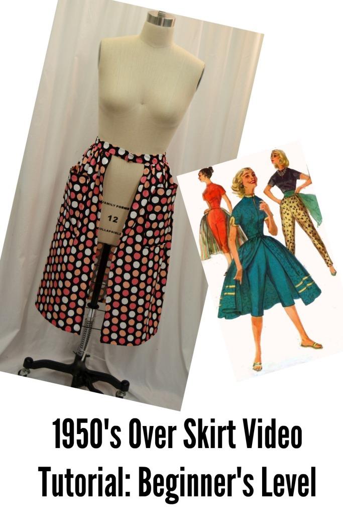 1950's overskirt