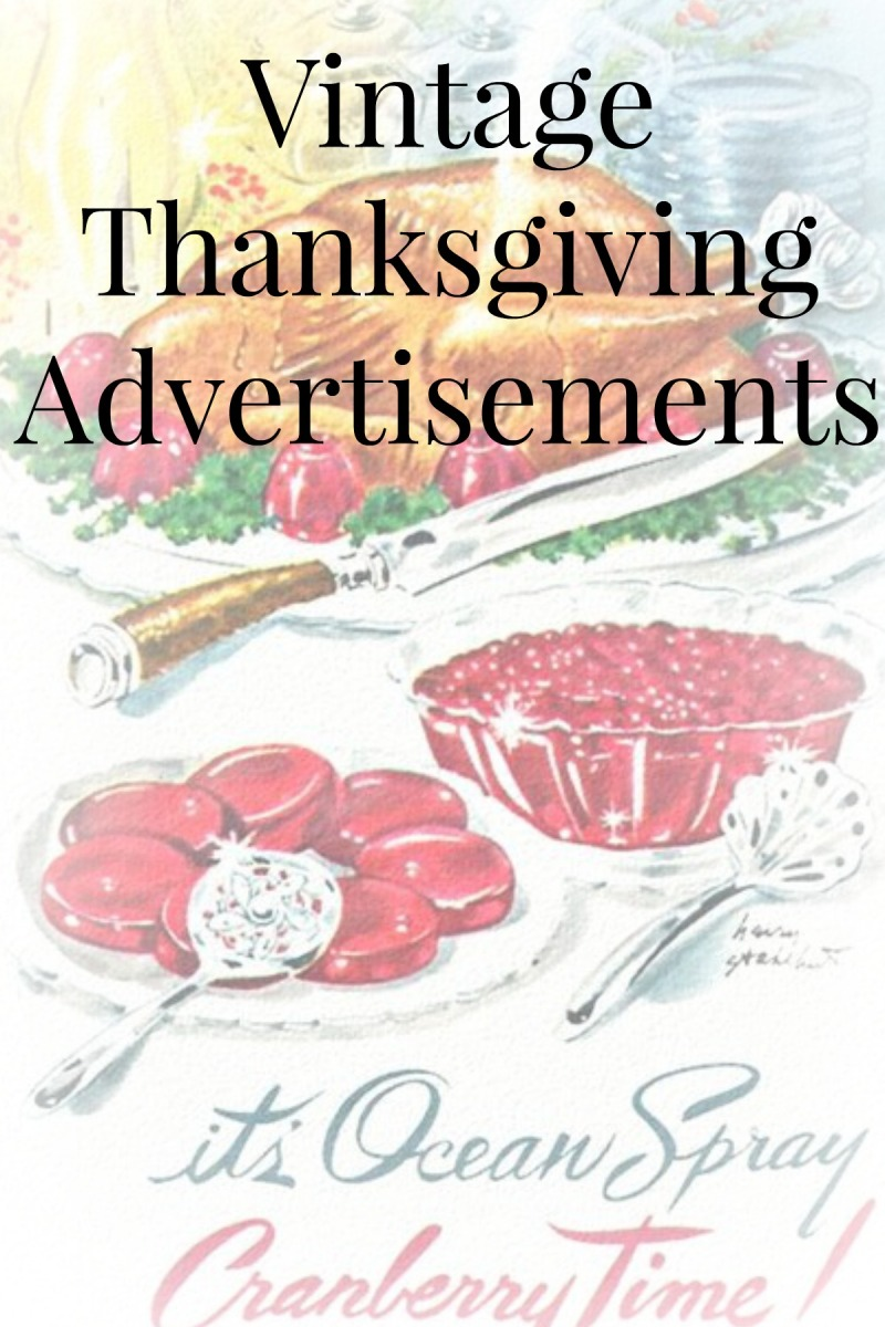 Vintage Thanksgiving Advertisements